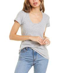 Bobi Scoop T-shirt - Gray