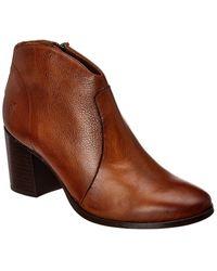 Frye Nora Zip Short Leather Bootie - Brown