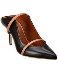 Malone Souliers Maureen 70 Leather Mule - Black