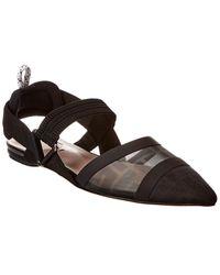 Fendi Colibri Mesh Slingback Ballerina Flat - Black