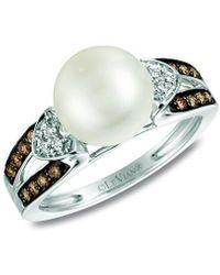 Le Vian ? Chocolatier? 14k Vanilla Gold 0.22 Ct. Tw. Diamond 9-10mm Pearl Ring - Metallic