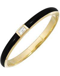 Sabrina Designs 14k Diamond Enamel Ring - Metallic