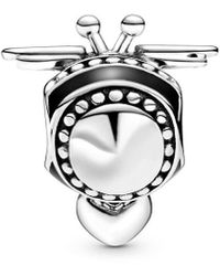 PANDORA Silver Bee Mine Charm - Metallic