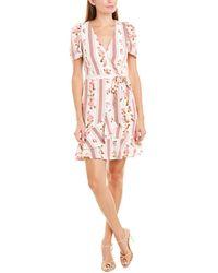 Betsey Johnson Ruffle Wrap Dress - Pink