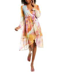Kendall + Kylie Duster Wrap Dress - Multicolour