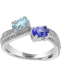 Effy - Fine Jewellery 14k 0.75 Ct. Tw. Diamond & Gemstone Ring - Lyst