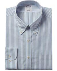 Brooks Brothers 1818 Regent Fit Dress Shirt - Blue
