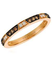 Le Vian ? Chocolatier? 14k Strawberry Gold 0.23 Ct. Tw. Diamond Ring - Metallic