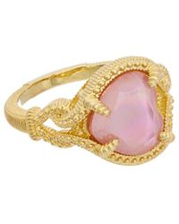 Judith Ripka - 14k Over Silver Shell Pearl & Cz Ring - Lyst
