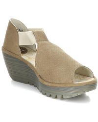 Fly London Yemo Leather Wedge Sandal - Multicolour