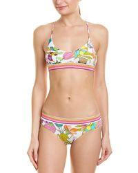 163f523df9378 Mikoh Swimwear West Oz Crochet-inset Halter Bikini Top in Pink - Lyst