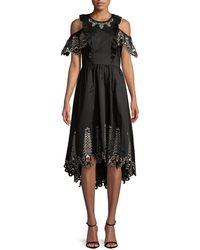Temperley London Amour Cold-shoulder Dress - Black