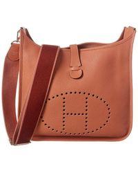 Hermès Orange Clemence Leather Evelyne Iii Gm - Multicolour