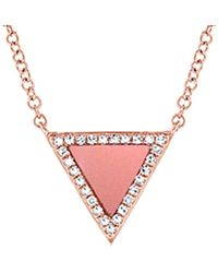 Sabrina Designs - 14k Rose Gold Diamond & Mother-of-pearl Necklace - Lyst