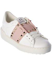 Valentino Valentino Garavani Rockstud Untitled Leather Sneaker - White