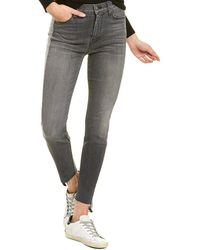 Hudson Jeans Barbara Stark High-rise Skinny Crop Jean - Grey