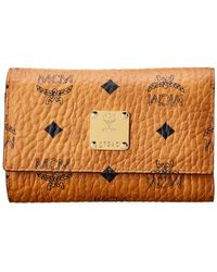 MCM - Visetos Three Fold Flap Wallet - Lyst