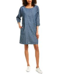 Eileen Fisher Chambray Shift Dress - Blue