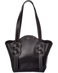 Chloé Darryl Small Leather Tote - Black