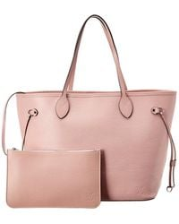 Louis Vuitton Pink Epi Leather Neverfull Mm Nm