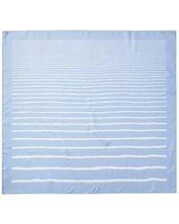 "Hermès ""mediterranee,"" By Jean Louis Duviler Silk Scarf - Blue"