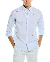 Brooks Brothers 1818 Embroidered Regent Fit Woven Shirt - Blue