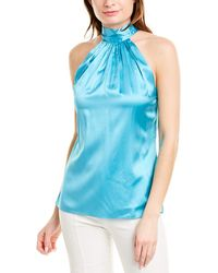 Ramy Brook Lori Silk-blend Top - Blue