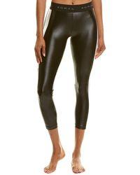 Koral Activewear Emblem Medium-rise Crop Legging - Black