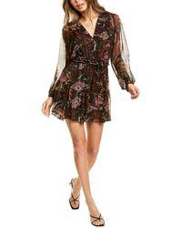 A.L.C. Esme Silk-blend Mini Dress - Brown