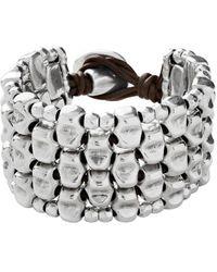 Uno De 50 Unode50 Masai Silver Bracelet - Metallic