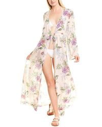 Letarte Tie-waist Maxi Cover-up - Pink