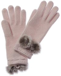 Phenix Cashmere Honeycomb Glove - Multicolor