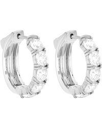 Diana M. Jewels . Fine Jewellery 18k 1.00 Ct. Tw. Diamond Huggie Earrings - Metallic