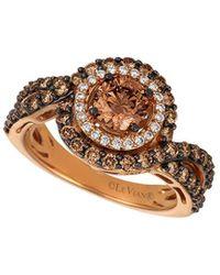 Le Vian ? Chocolatier? 14k Strawberry Gold? 1.10 Ct. Tw. Diamond Ring - Metallic