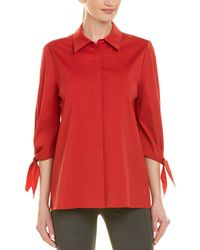 Lafayette 148 New York Liv Blouse - Red