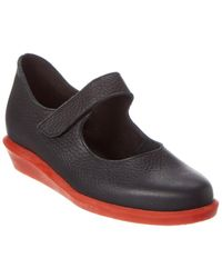 Arche Dicaby Leather Mary Jane - Black