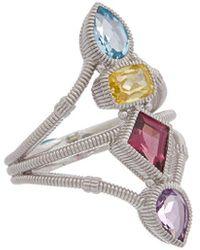 Judith Ripka Rio Silver 3.93 Ct. Tw. Gemstone Cz Ring - Metallic