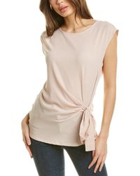Vince Camuto Soft Texture Mixed Media Top - Orange