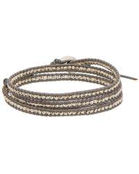 Chan Luu - Silver Leather Wrap Bracelet - Lyst