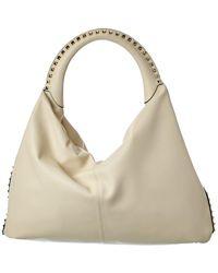 Valentino Garavani - Rockstud Leather Hobo Bag - Lyst