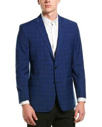 Brooks Brothers Regent Fit Wool-blend Blazer - Blue
