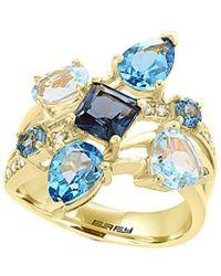 Effy - Fine Jewelry 14k 4.11 Ct. Tw. Diamond & Gemstone Ring - Lyst
