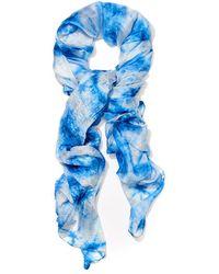 J.McLaughlin Tyra Silk Scarf - Blue