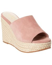 Seychelles Ride The Wave Suede Wedge Sandal - Pink