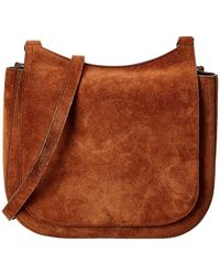 The Row Hunting 11 Suede Bag - Brown