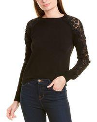 Carolina Herrera Encrusted Guipure Sweater - Black