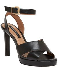 BCBGMAXAZRIA Leah Leather Sandal - Black