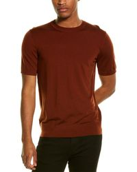 Theory Basic Regal Wool T-shirt - Brown
