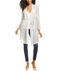 Go> By Go Silk Go By Go>silk Haute Hippie Silk Kimono - White