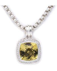 David Yurman - David Yurman Albion Silver 10.32 Ct. Tw. Diamond & Lemon Citrine Necklace - Lyst